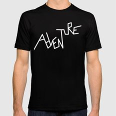 B&W Adventure SMALL Black Mens Fitted Tee