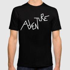 B&W Adventure Mens Fitted Tee Black MEDIUM
