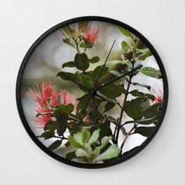 'Ohi'a lehua blossoms Wall Clock