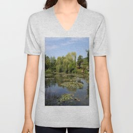 Monets Waterlily Pond Unisex V-Neck