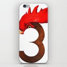 Cock-a-Three iPhone & iPod Skin
