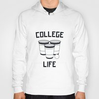 college Hoodies featuring College Life by Danielle Menard