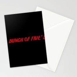 bunch of fives Stationery Cards