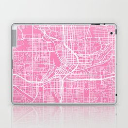 Atlanta map pink Laptop & iPad Skin