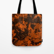 Galaxy in Orange Tote Bag