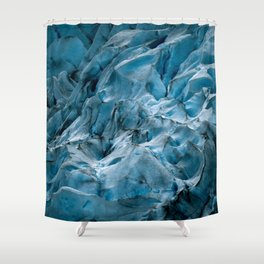Blue Ice Glacier in Norway - Landscape Photography Shower Curtain