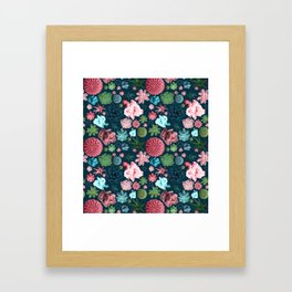 Colored Cacti Print Framed Art Print