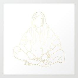 Grimes GOLD Art Print