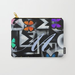 Monarch Butterfly Modern Abstract Painting Rainbow Art Carry-All Pouch