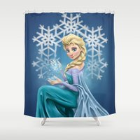 elsa Shower Curtains featuring Elsa by toibi