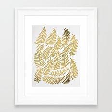Gold Fronds Framed Art Print