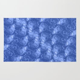 Blue and White Waves in a Pool; Fluid Abstract 42 Rug