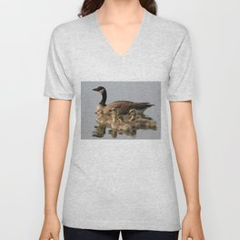 Mother Goose and Her Goslings Unisex V-Neck