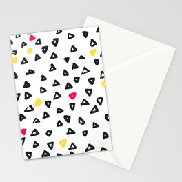 doodle triangles Stationery Cards