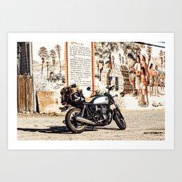 Moto trip Art Print