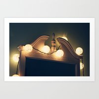 I can see you in the lights Art Print