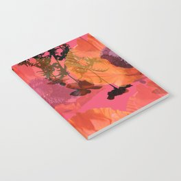 Pink Poppy Floral Botanical Notebook