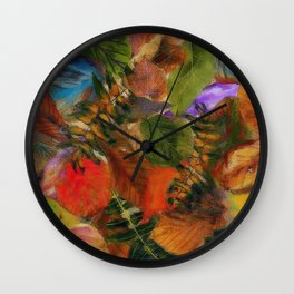 Autumn Leaf Fall 2 Wall Clock