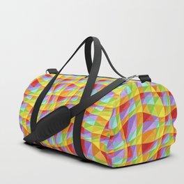 Groovy Rainbow Plaid Duffle Bag