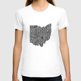 Typographic Ohio T-shirt