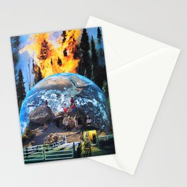 They bought a ticket to watch the world burn Stationery Cards