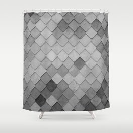Fifty Gray Shades of Tiles (Black and White) Shower Curtain