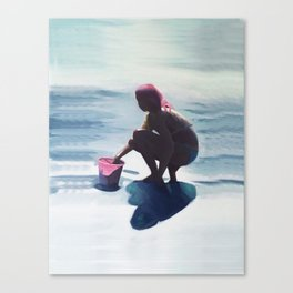 Le seau rose Canvas Print