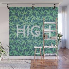HIGH TYPO! Cannabis / Hemp / 420 / Marijuana  - Pattern Wall Mural