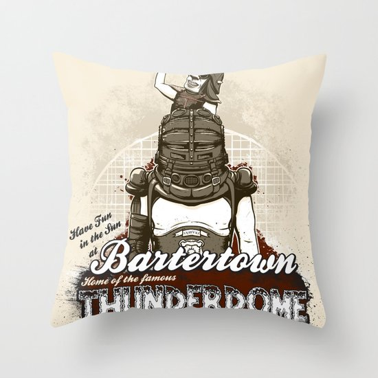 Visit Bartertown! Throw Pillow