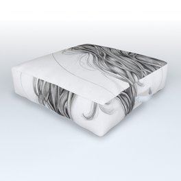 JennyMannoArt Graphite drawing Outdoor Floor Cushion