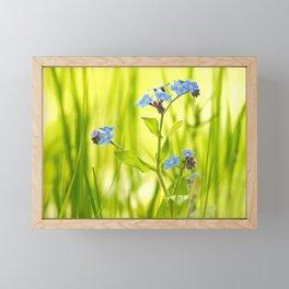 Lovely Morning Meadow Forget Me Not #decor #society6 Framed Mini Art Print