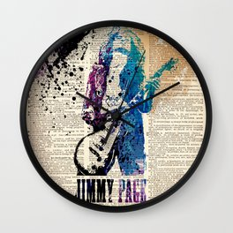 JIMMY PAGE #on dictionary page Wall Clock