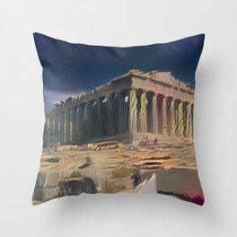 Ancient Light Parthenon Throw Pillow