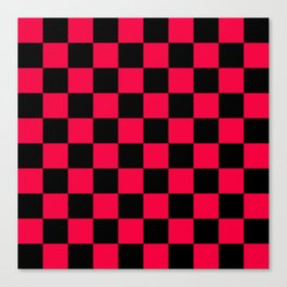 Black and Red Checkerboard Pattern Canvas Print