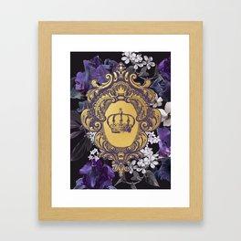 Lalia Dark Floral Crown Framed Art Print