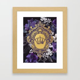 Lalia Dark Floral Crown Framed Art Print