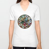 magic the gathering V-neck T-shirts featuring Magic the Gathering - Stained Glass by omgitsmagic