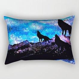 Wolf Trio Rectangular Pillow