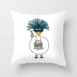 Eglantine la poule (the hen) at the Venice Carnival Throw Pillow