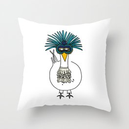 Eglantine la poule (the hen) at the Venice Carnival Throw Pillow