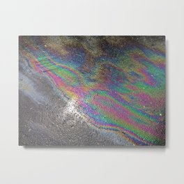 Oil spill pattern Metal Print