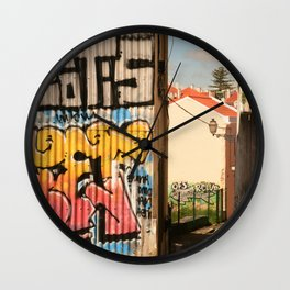 Defaced Wall Clock