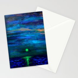 Lake Michigan Moonlight Stationery Cards