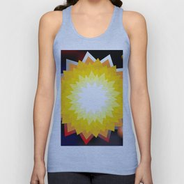 summer sun with planet Unisex Tank Top
