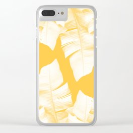 Tropical Yellow Banana Leaves Vibes #1 #decor #art #society6 Clear iPhone Case