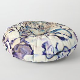 abstract stone and running water Floor Pillow