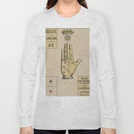Vintage French Sun Tarot Card Long Sleeve T-shirt