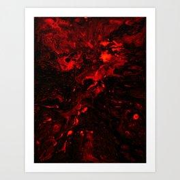 Red Blood Splatter Art Print