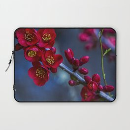 Red Flowering Quince Laptop Sleeve