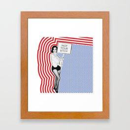 Not Your B Framed Art Print